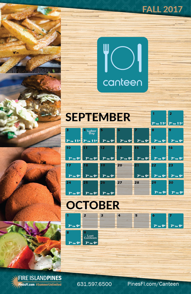 CANTEEN • Thru <b>Columbus Day<br>Come on Down</b> & Visit, Awhile