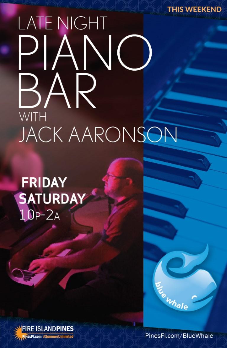<b>PIANO BAR</b> – It's Jack! (& Surprise Guests)<br>Fridays + Saturdays