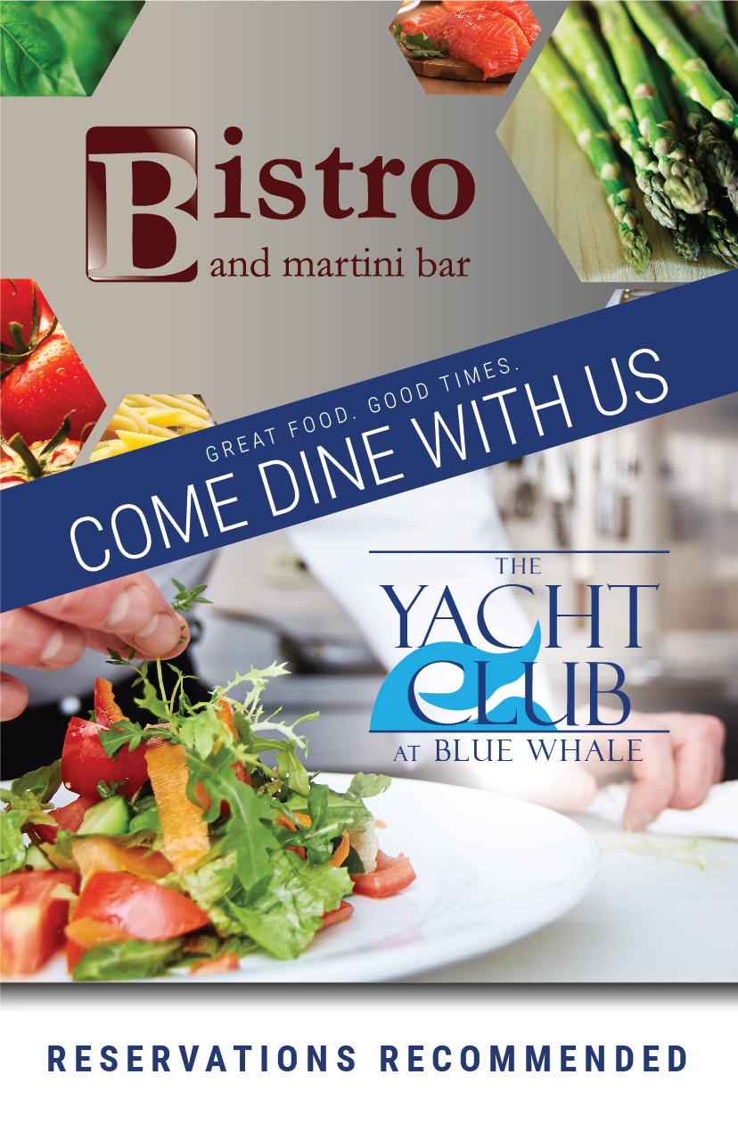 DINNER & BRUNCH – Bistro & Blue Whale