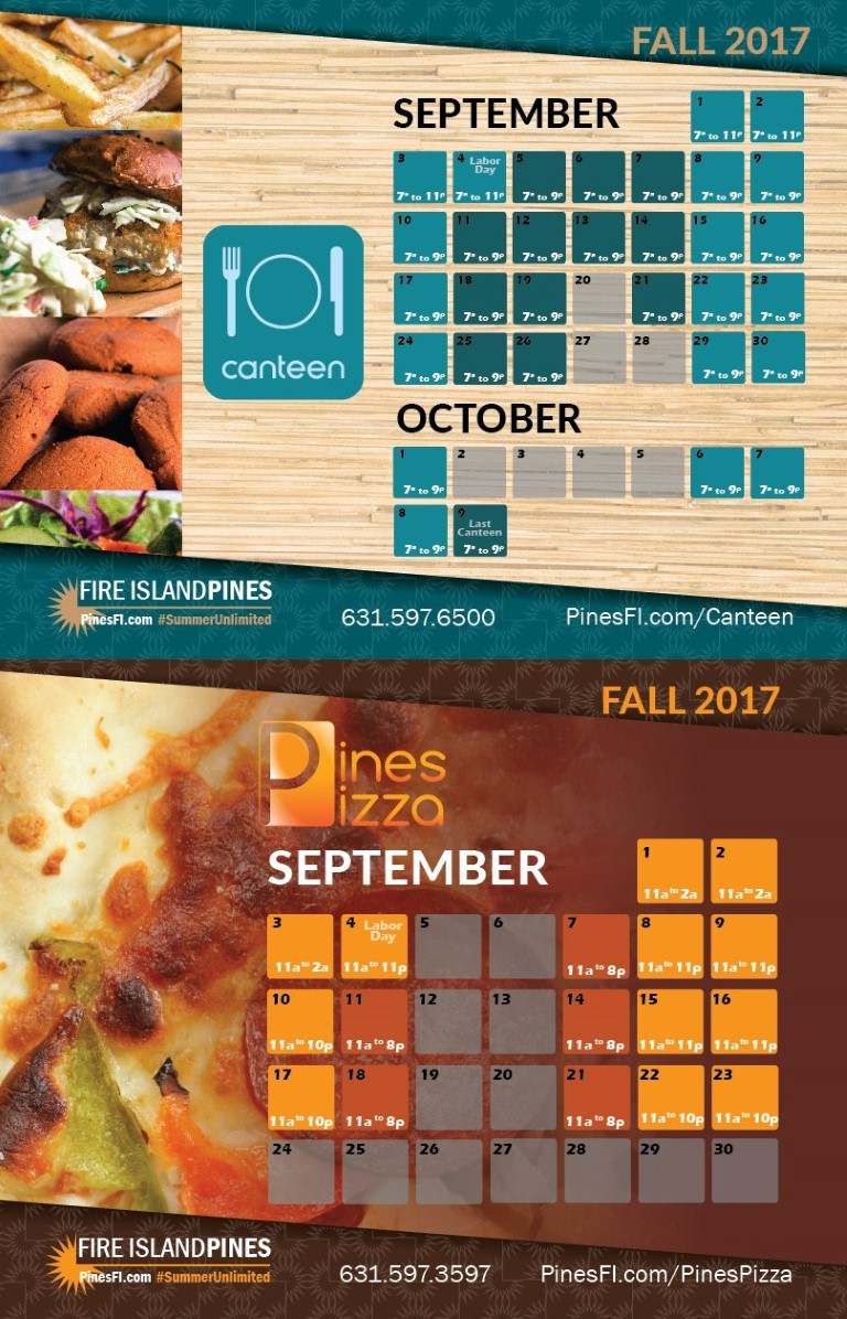 <b>Canteen</b> • Early+Late (No Weds)<br><b>Pizza</b> • Thurs–Mon