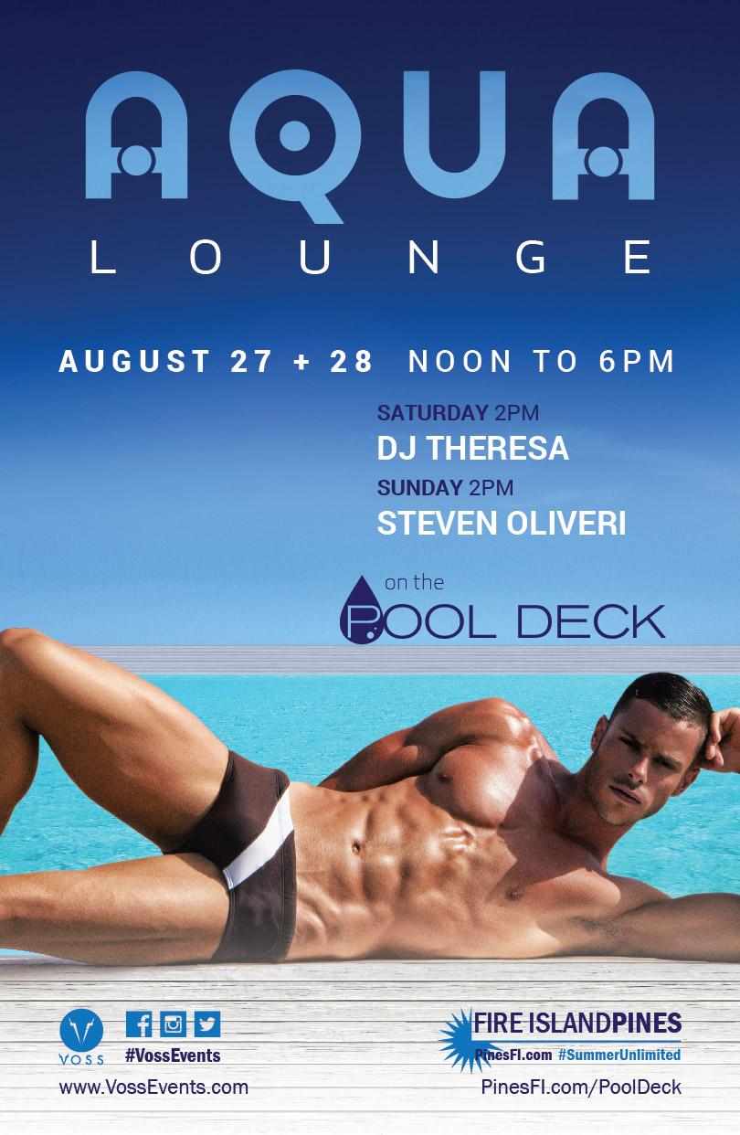 AQUA•Lounge – Sat + Sun, on the ALL-NEW PoolDeck!