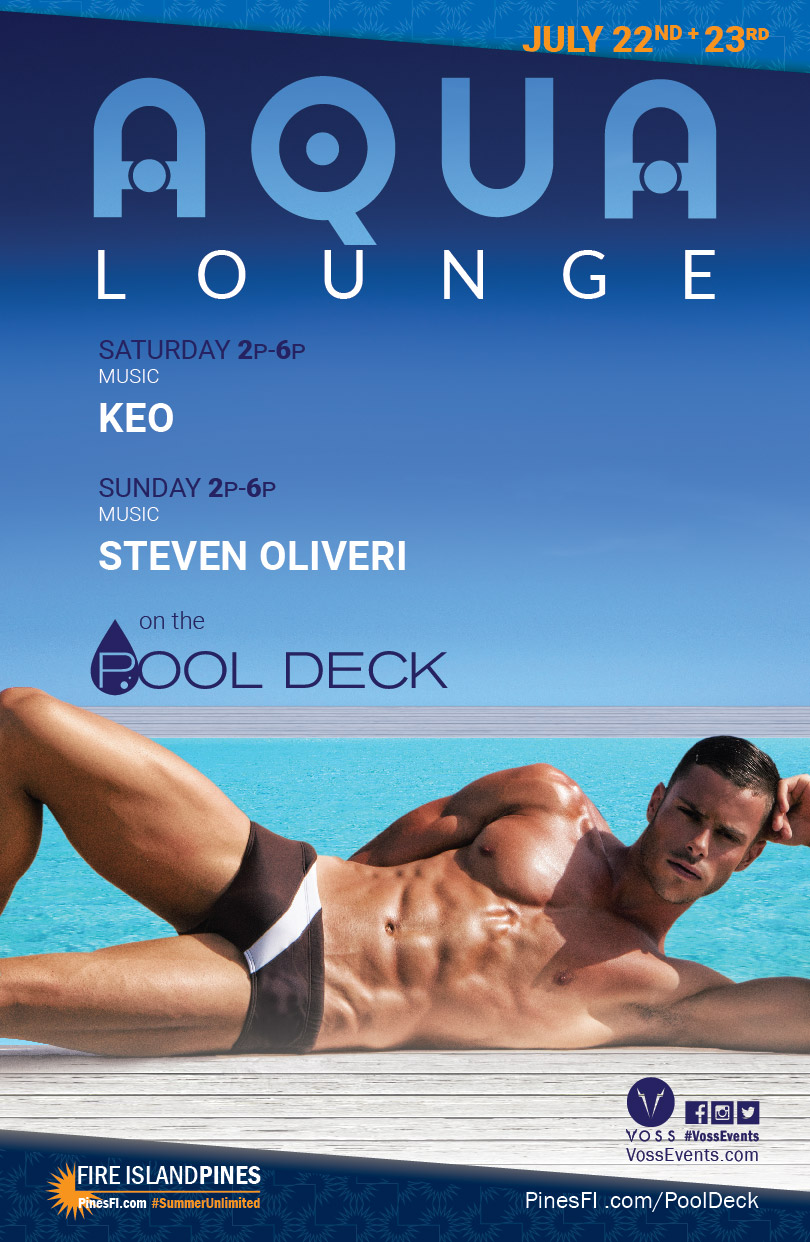 <b>AQUA•Lounge</b> – Saturdays & Sundays<br>On the <b>PoolDeck</b>!