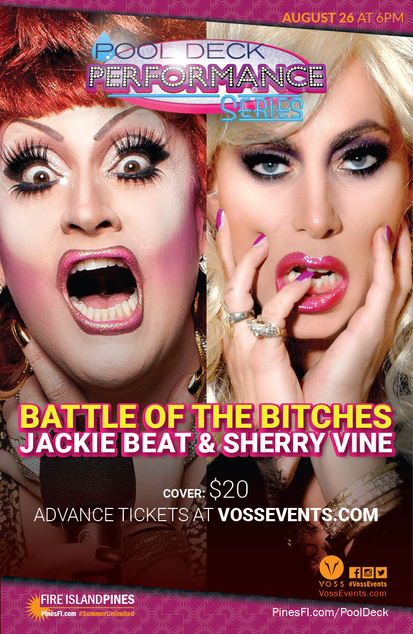 <b>Battle of the Bitches</b><br>Poolside Performance Series <b>6:00p, Saturday</b>